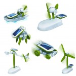Chameleon 6-in-1 solar toy set